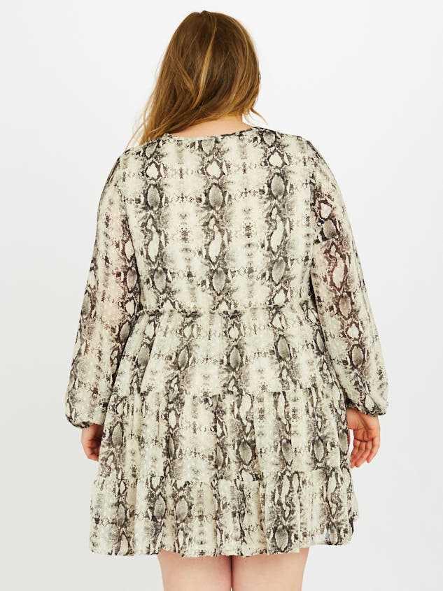 Snakeskin Tiered Dress Detail 3 - A'Beautiful Soul