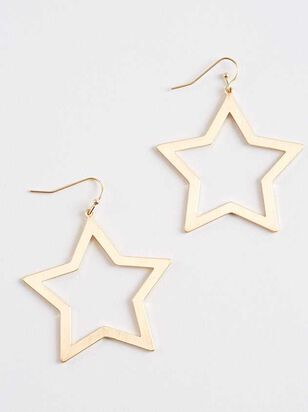 Wide Open Stars Earrings - A'Beautiful Soul