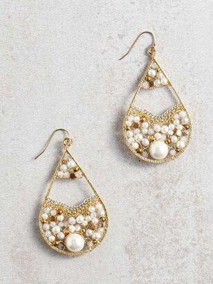 Pearl Filled Earrings - A'Beautiful Soul