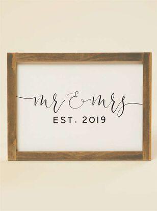 Mr. and Mrs. Established 2019 Wall Art - A'Beautiful Soul
