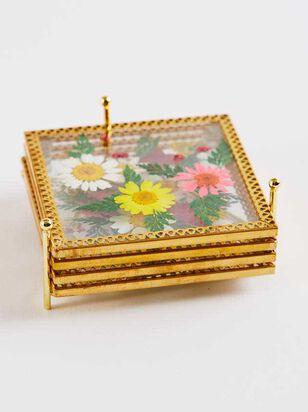 Square Floral Coaster Set - A'Beautiful Soul