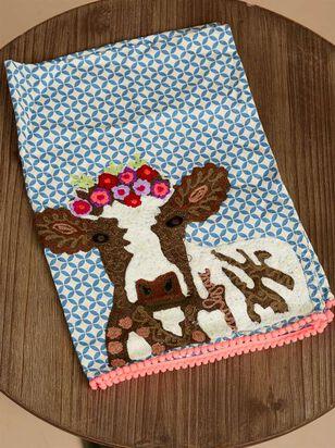 Flower Cow Hand Towel - A'Beautiful Soul