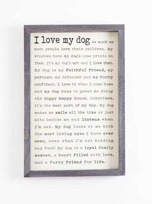 I Love My Dog Wall Art - A'Beautiful Soul