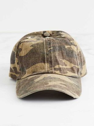 Washed Camo Baseball Hat - A'Beautiful Soul