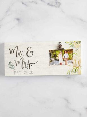 Mr. and Mrs. 2020 Clip Frame - A'Beautiful Soul