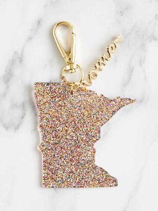 Home Glitter Keychain - Minnesota - A'Beautiful Soul