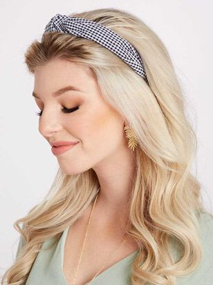 Gingham Knot Headband - A'Beautiful Soul