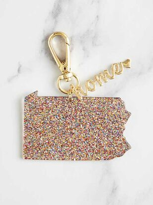 Home Glitter Keychain - Pennsylvania - A'Beautiful Soul