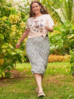 Dalmatian Midi Skirt - A'Beautiful Soul