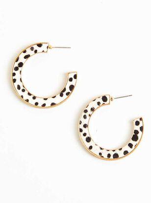 Cheetah Hoop Earrings - A'Beautiful Soul