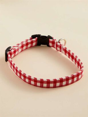 Bear & Ollie's Red Gingham Dog Collar - Medium - A'Beautiful Soul