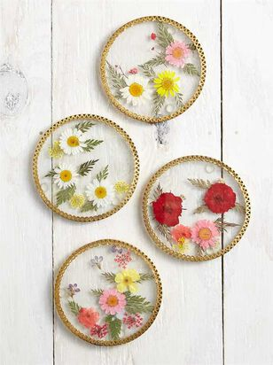 Dried Flower Coaster Set - A'Beautiful Soul
