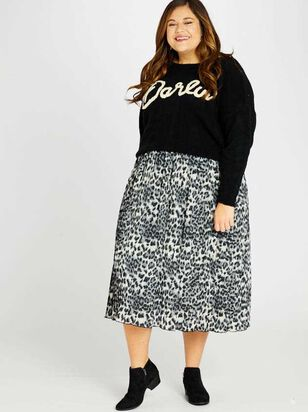 Leopard Midi Skirt - A'Beautiful Soul