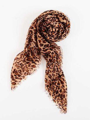 Leopard Fringe Lightweight Scarf - A'Beautiful Soul