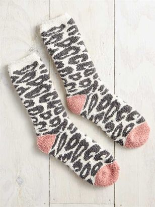 Cozy Snow Leopard Socks - A'Beautiful Soul