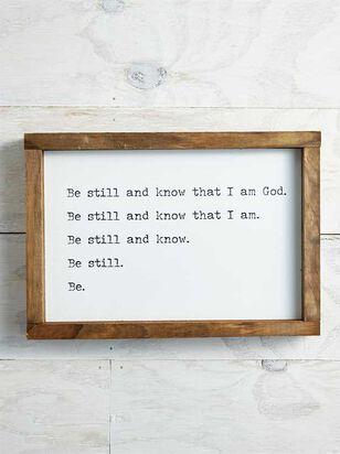 Be Still & Know that I am God Wall Art - A'Beautiful Soul