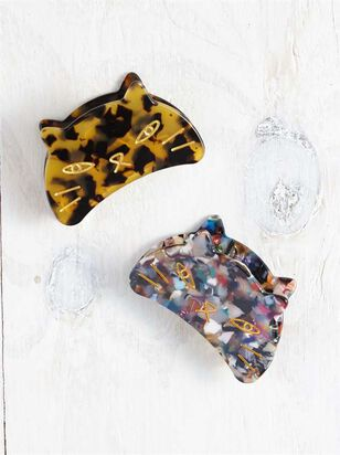 Acetate Cat Claw Clip Set - A'Beautiful Soul