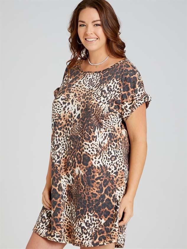 Lux Leopard Dress Detail 2 - A'Beautiful Soul