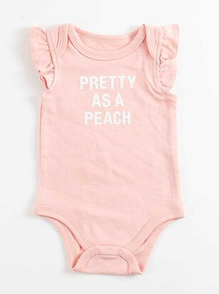 Tullabee Pretty as a Peach Onesie - A'Beautiful Soul