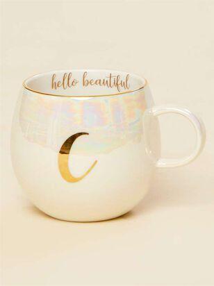 Hello Beautiful Iridescent Monogram Mug - C - A'Beautiful Soul