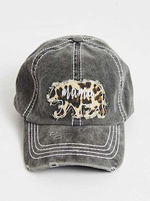 Mama Bear Leopard Baseball Hat - A'Beautiful Soul