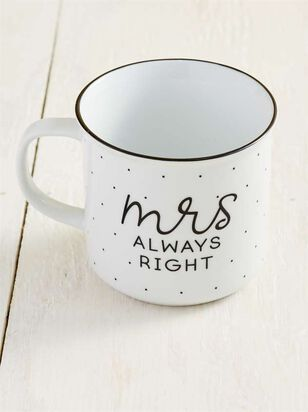 Mrs. Always Right Est. 2019 Mug - A'Beautiful Soul