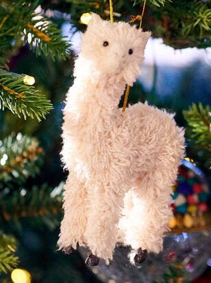 Furry Llama Ornament - A'Beautiful Soul