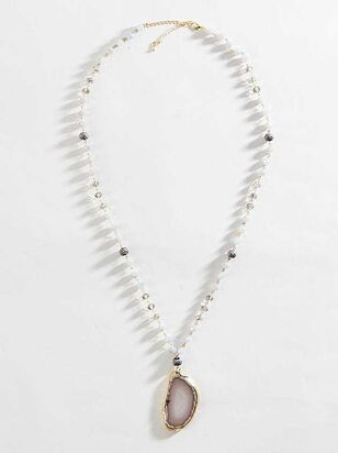 Agate Stone Necklace - A'Beautiful Soul