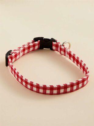 Bear & Ollie's Red Gingham Dog Collar - Medium - A'Beautiful Soul