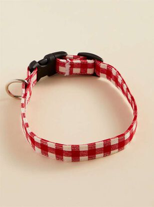Bear & Ollie's Red Gingham Dog Collar - Small - A'Beautiful Soul