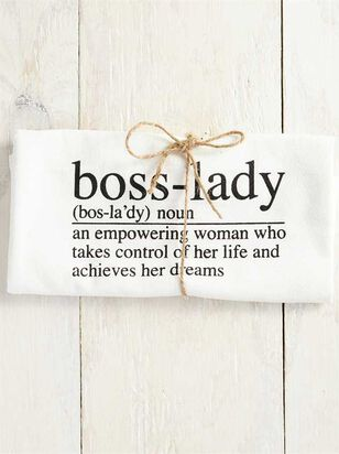 Boss Lady Hand Towel - A'Beautiful Soul