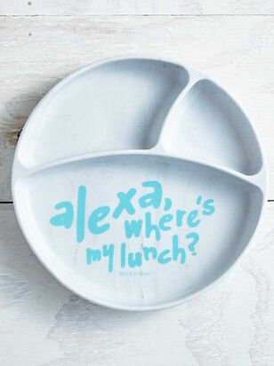 Tullabee Alexa Where's My Lunch Sunction Plate - A'Beautiful Soul