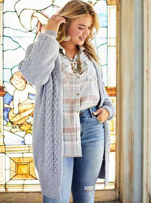 Chenille Cable Cardigan Sweater - A'Beautiful Soul