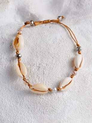 Glass Bead and Cowry Bracelet - A'Beautiful Soul