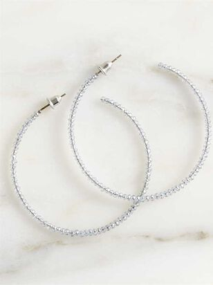 Dainty Sparkle Hoop Earrings - Grey - A'Beautiful Soul