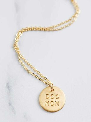 Dog Mom Engraved Necklace - A'Beautiful Soul