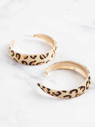 Leopard Hoop Earrings - A'Beautiful Soul