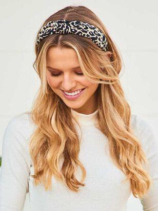 White Leopard Knot Headband - A'Beautiful Soul