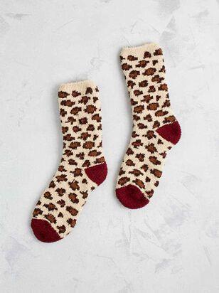 Cozy Leopard Socks - A'Beautiful Soul