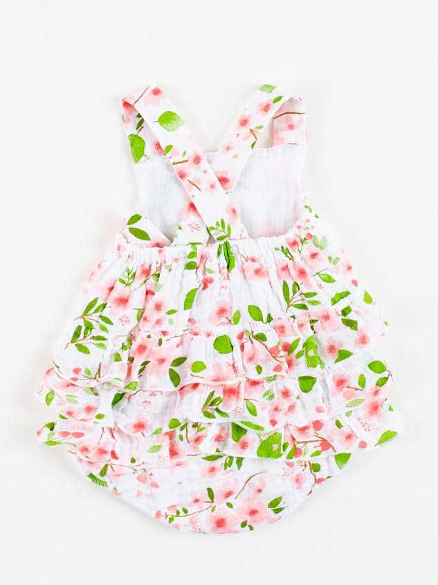 Tullabee Cherry Blossom Ruffle Sunsuit Detail 2 - A'Beautiful Soul