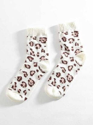 Snow Leopard Crew Sock - A'Beautiful Soul