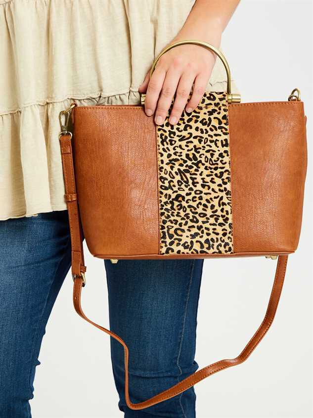 Lula Leopard Handbag Detail 2 - A'Beautiful Soul