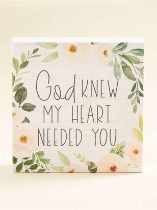 God Knew Block Sign - A'Beautiful Soul