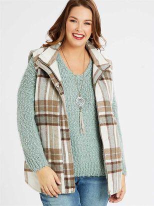 Plaid Frost Outerwear Vest - A'Beautiful Soul