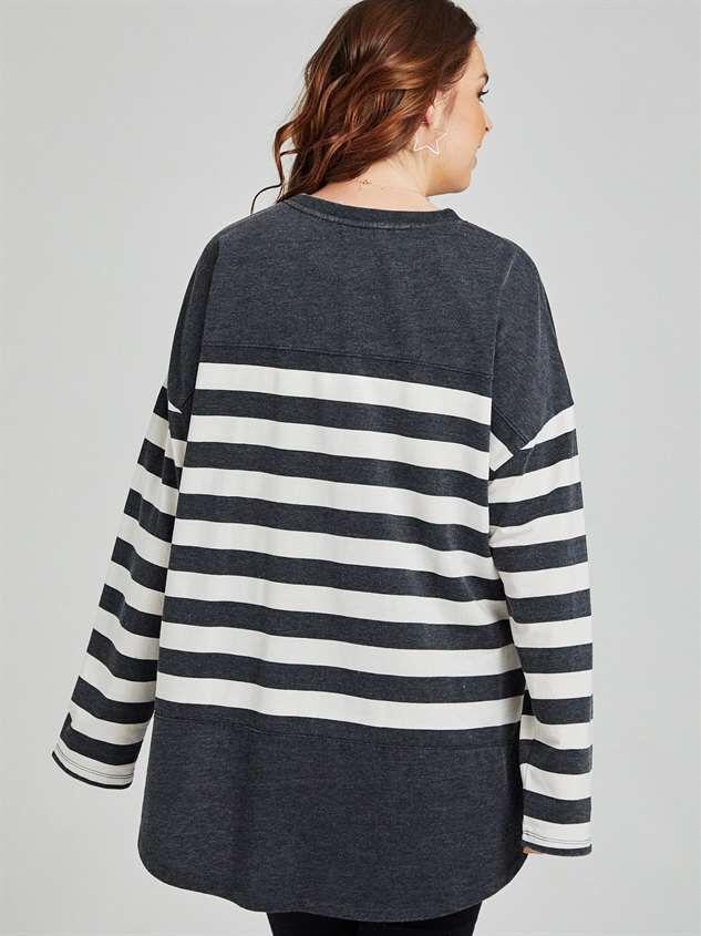 Modern Stripe Top Detail 3 - A'Beautiful Soul