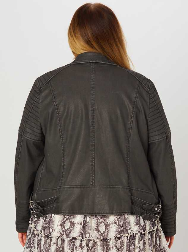 Quilted Moto Jacket Detail 3 - A'Beautiful Soul