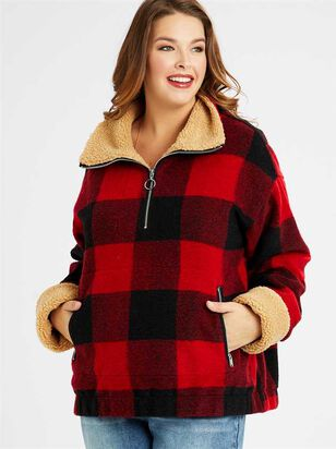 Buffalo Plaid Sherpa Jacket - A'Beautiful Soul