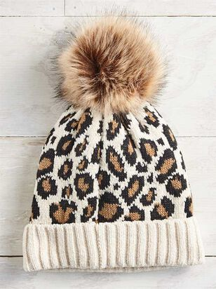 Leopard Pom Beanie - A'Beautiful Soul