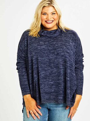 Barlow Top - Heather Navy - A'Beautiful Soul