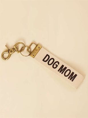 Dog Mom Canvas Keychain - A'Beautiful Soul